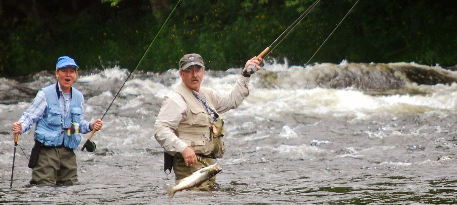 Tom lin jumping fish crop magalloway guide service for Maine fishing guide