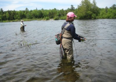 Jessica and Genie on the Rangeley R 2